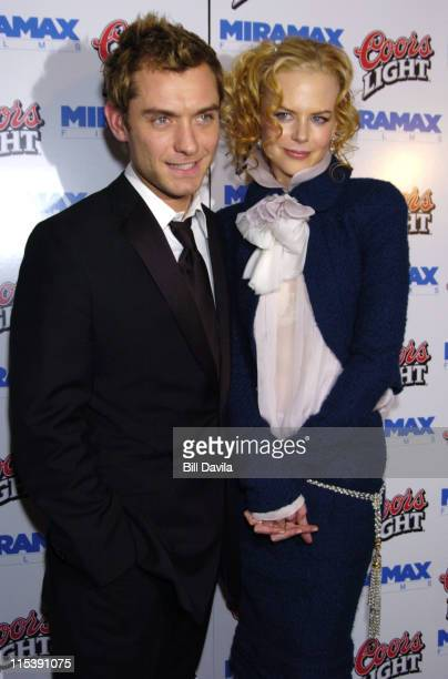 Jude Law and Nicole Kidman during 'Cold Mountain' New York Premiere After Party at New York Public Library in New York City New York United States