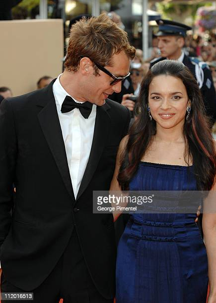 Jude Law and Norah Jones during 2007 Cannes Film Festival Opening Night Gala and World Premiere of 'My Blueberry Nights' Arrivals at Palais de...
