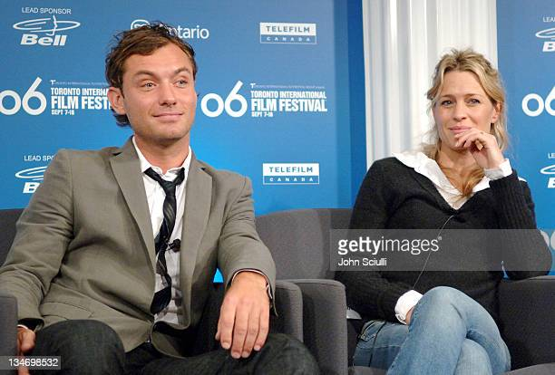 Jude Law and Robin Wright Penn during 31st Annual Toronto International Film Festival 'Breaking and Entering' Press Conference at Sutton Place in...