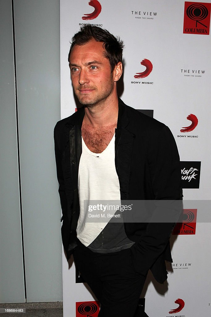 Jude Law attends a listening party for Daft Punk's new album 'Random Access Memories' at The Shard on May 13 2013 in London England