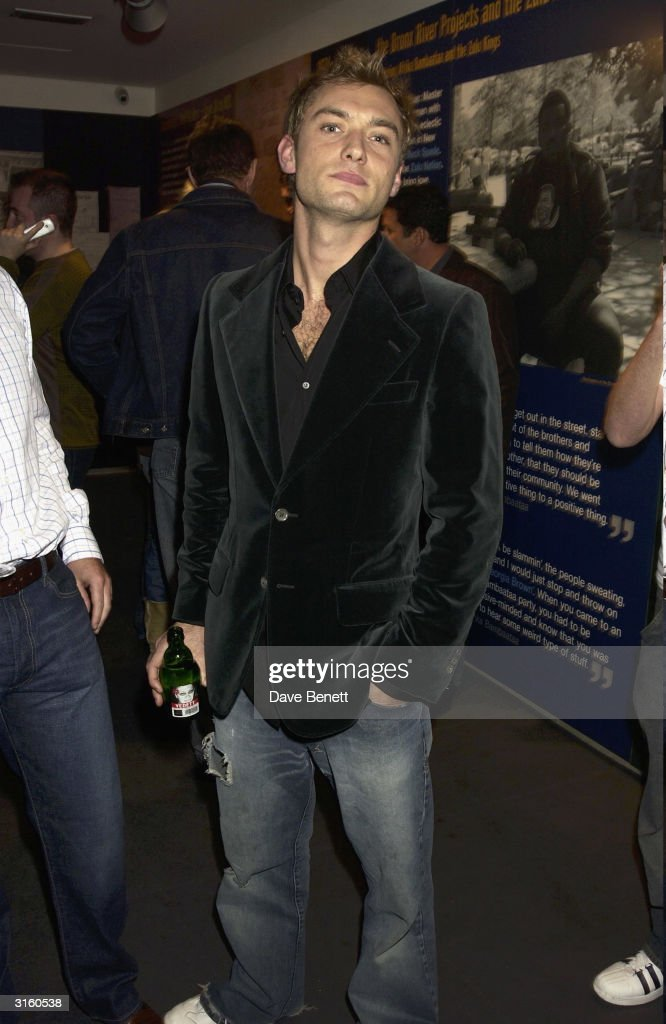Jude Law attends the launch party for 'The Hospital' which is the latest music and art project by Dave Stewart at The Hospital on October 24, 2003 in London.