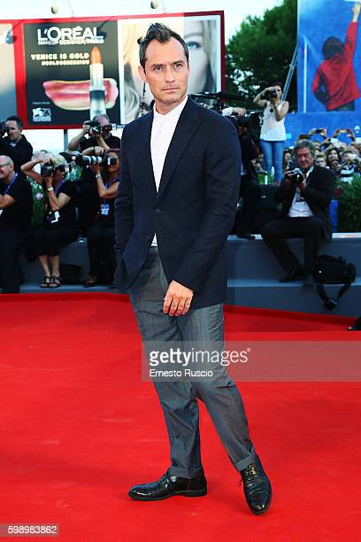 Jude Law attends the premiere of 'The Young Pope' during the 73rd Venice Film Festival at Palazzo del Casino on September 3 2016 in Venice Italy