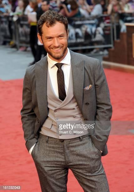 Jude Law attends the UK Film Premiere of Anna Karenina on September 4 2012 in London United Kingdom