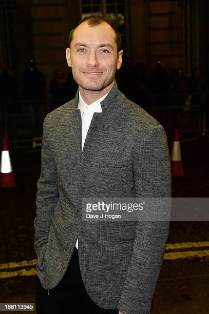 Jude Law attends the UK premiere of 'Dom Hemingway' at The Curzon Mayfair on October 28 2013 in London England