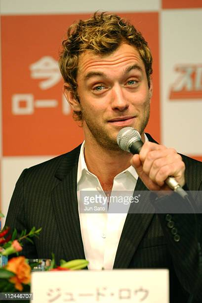 Jude Law during 17th Annual Tokyo International Film Festival 'Sky Captain and the World of Tomorrow' Press Conference at Roppongi Academy Hills in...