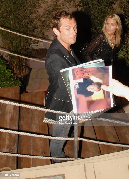 Jude Law during 2007 Cannes Film Festival In the Hands of Gods Nike Party Arrivals at Century Club in Cannes France