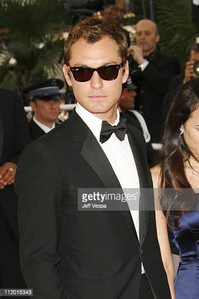 Jude Law during 2007 Cannes Film Festival Opening Night Gala and World Premiere of 'My Blueberry Nights' Arrivals at Palais de Festival in Cannes...
