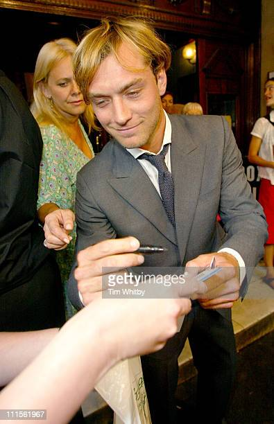 Jude Law during 'As You Like It' Gala Opening at Wyndham's Theatre in London Great Britain