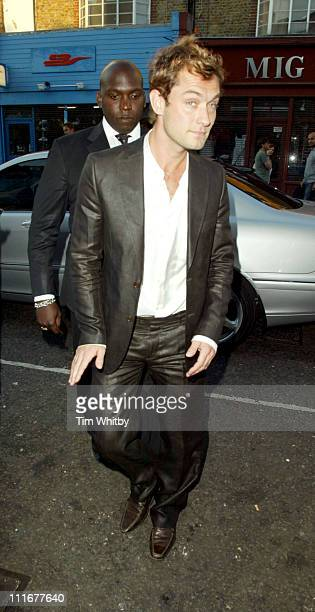 Jude Law during Grand Classics 'The Night Of The Hunter' Screening Arrivals at Electric Cinema in London Great Britain