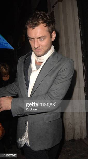 Jude Law during Jude Law and Sienna Miller Sighting at Gerry's in London November 1 2005 at Gerry's in London Great Britain
