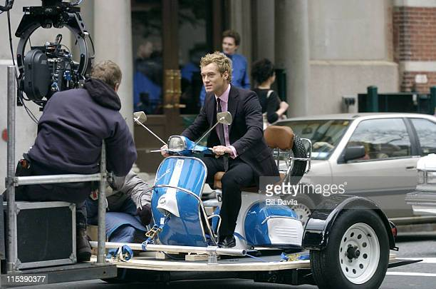 Jude Law during On The Set Of 'Alfie' December 1 2003 at New York City in New York NY United States