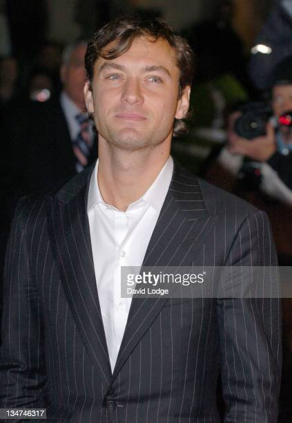 Jude Law during The Times BFI 50th London Film Festival UK Film Premiere of 'Breaking and Entering' at Odeon West End in London Great Britain