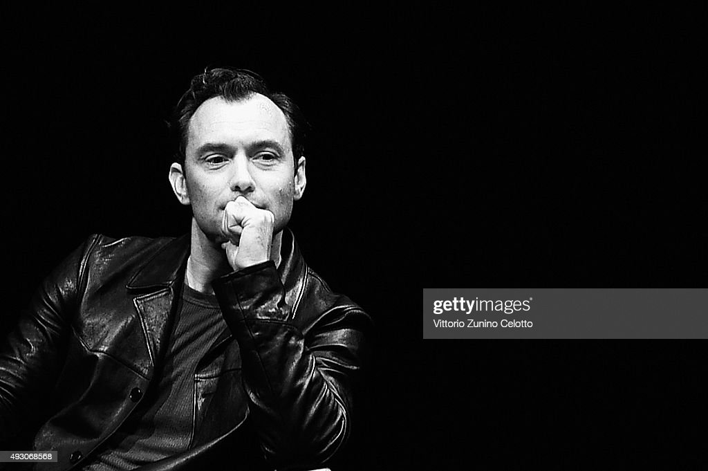 Jude Law meets the audience during the 10th Rome Film Fest at Auditorium Parco Della Musica on October 17 2015 in Rome Italy