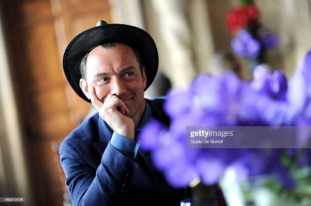 <a gi-track='captionPersonalityLinkClicked' href=/galleries/search?phrase=Jude+Law&family=editorial&specificpeople=156401 ng-click='$event.stopPropagation()'>Jude Law</a> pictured at the global premiere of Johnnie Walker Blue Label's The Gentleman's Wager II at Villa Mondragone on October 31, 2015 in Rome, Italy.
