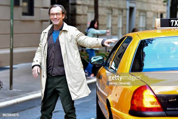 Jude Law seen on location for Woody Allen's untitled movie on October 18 2017 in New York City