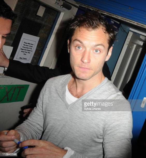 Jude Law sighting on August 1 2009 in London England