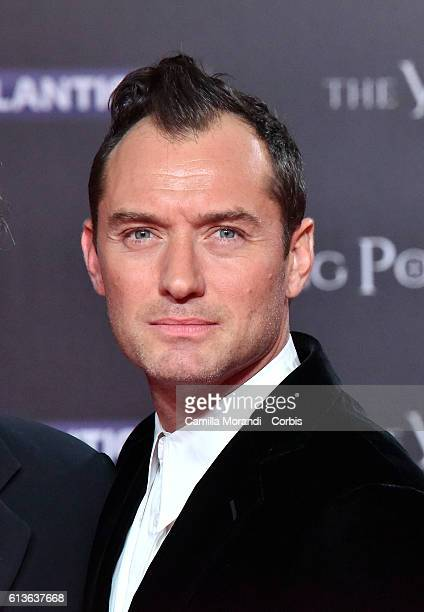 Jude Law walks the red carpet at 'The Young Pope' premiere on October 9 2016 in Rome Italy
