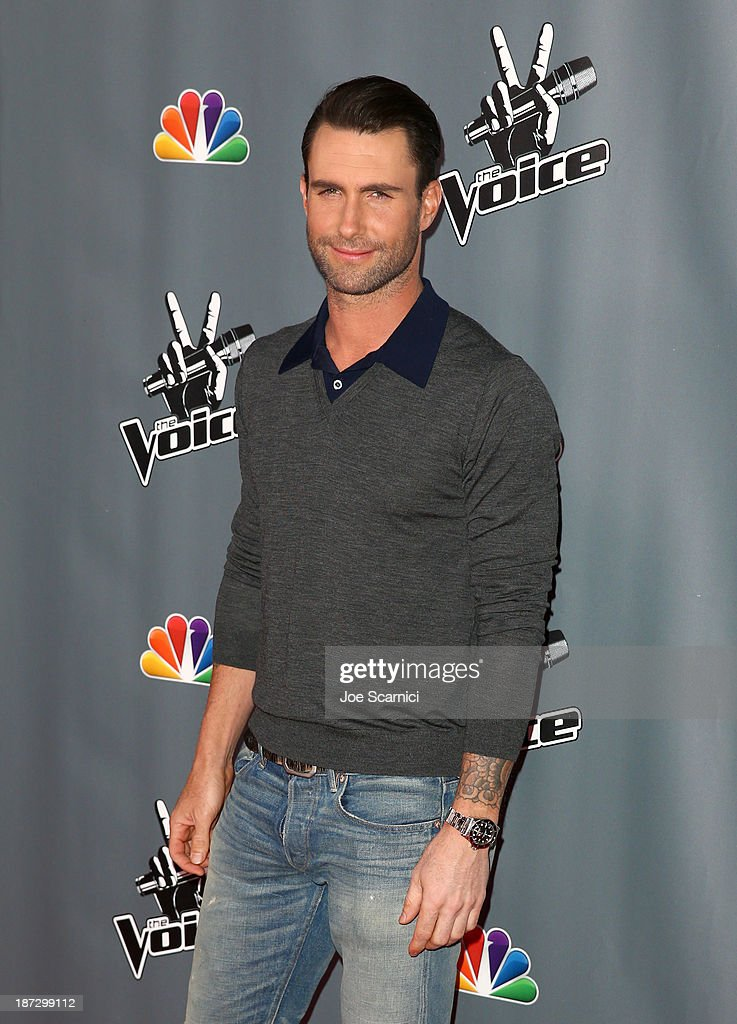 Judge Adam Levine arrives to the 'The Voice' Season 5 Top 12 Event at Universal Studios Hollywood on November 7, 2013 in Universal City, California.