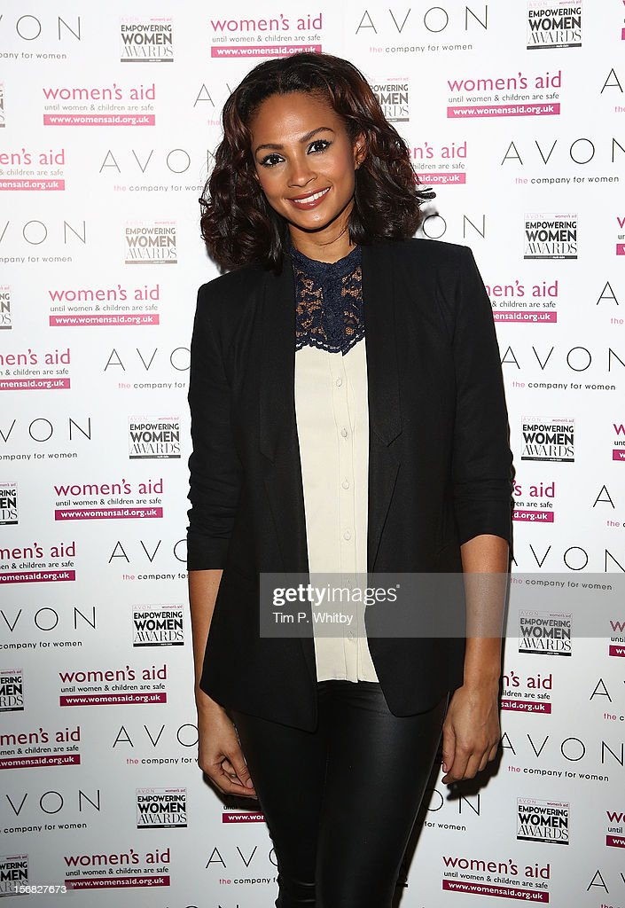 Judge Alesha Dixon attends the star-studded 2012 Empowering Women Awards, hosted by Avon Cosmetics and national Charity Women's Aid at Claridge's Hotel on November 22, 2012 in London, England. The stars came together with this year's winners to celebrate the annual awards - which are designed to recognise the bravery and achievements of women survivors of domestic violence, and those who work tirelessly to support women and children affected by abuse.