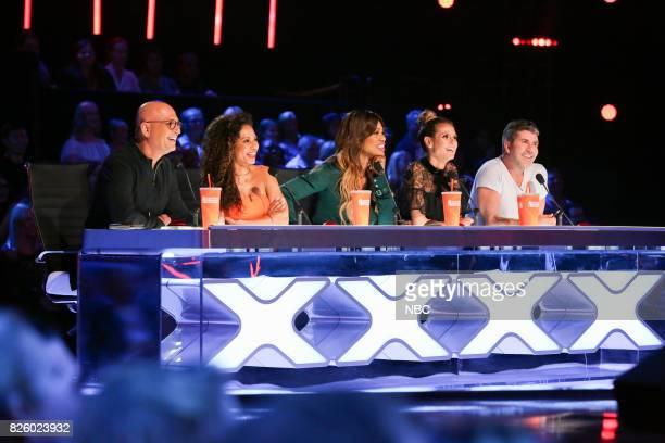S GOT TALENT 'Judge Cuts' Episode 1210 Pictured Howie Mandel Mel B Laverne Cox Heidi Klum Simon Cowell