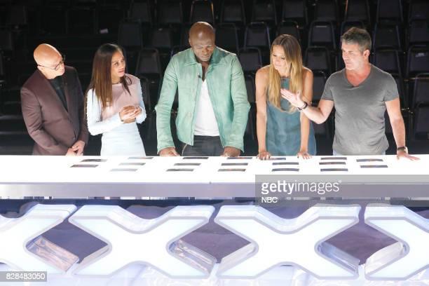 S GOT TALENT 'Judge Cuts' Episode 1211 Pictured Howie Mandel Mel B Seal Heidi Klum Simon Cowell