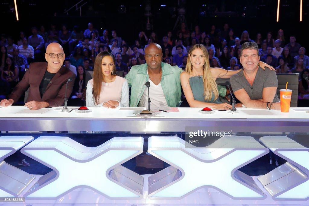 S GOT TALENT -- 'Judge Cuts' Episode 1211 -- Pictured: (l-r) Howie Mandel, Mel B, Seal, Heidi Klum, Simon Cowell --