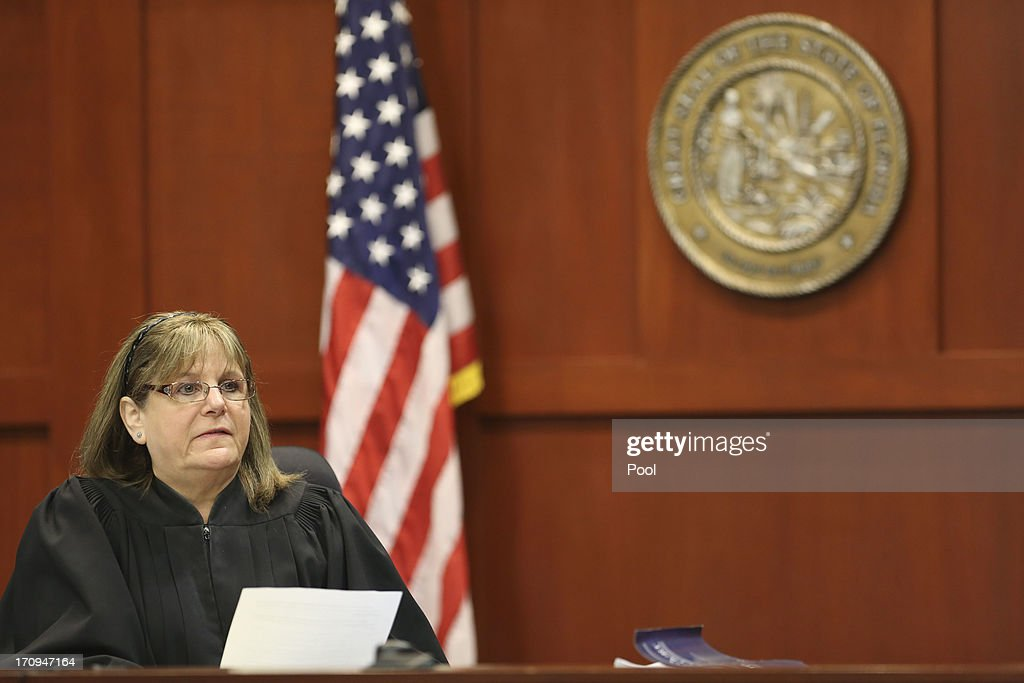 Judge Debra Nelson reads the law to potential jurors during George Zimmerman's trial in Seminole circuit court June 20, 2013 in Sanford, Florida. Zimmerman is charged with second-degree murder for the February 2012 shooting death of 17-year-old Trayvon Martin.