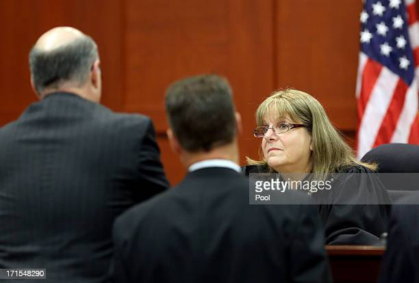 Judge Debra Nelson speaks to counsel during George Zimmerman's trial in Seminole circuit court June 26 2013 in Sanford Florida Zimmerman is charged...