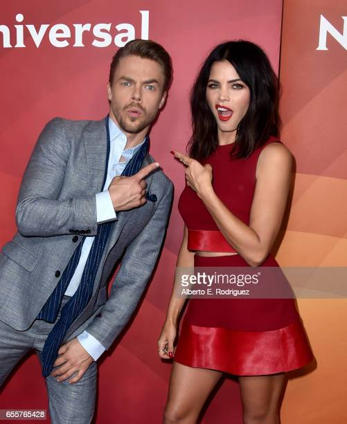 Judge Derek Hough and Host Jenna Dewan Tatum of 'World Of Dance' attend the 2017 NBCUniversal Summer Press Day at The Beverly Hilton Hotel on March...