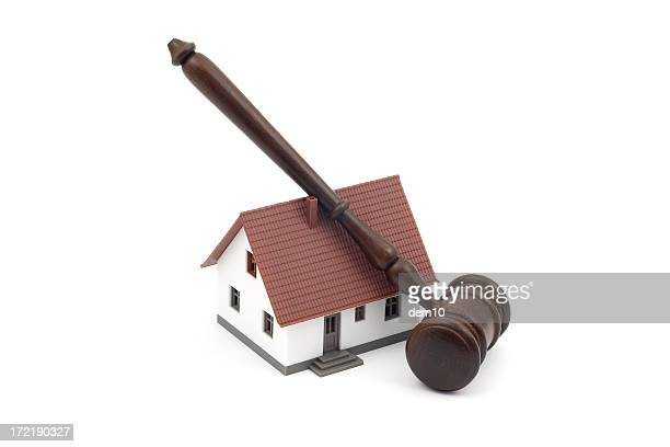 Judge gavel and a house