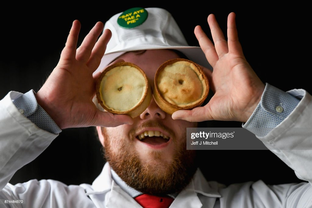 Judge Graeme Sharp, poses for a photograph as he views the entries by Scottish bakers for the 19th World Championships on November 15, 2017 in Dunfermline, Scotland. Butchers and bakers throughout the country have entered the most prestigious pie competition in the world with judges gathering to cast an expert eye over the pies before taking a bite and picking out the winner.