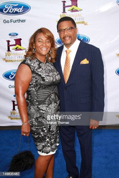 Judge Greg Mathis and wife...