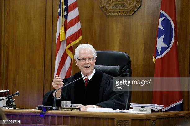 Judge Hamilton Gayden addresses the jury in the trial involving sportscaster and television host Erin Andrews March 7 in Nashville Tennessee Andrews...