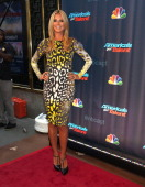 Judge Heidi Klum attends 'Americas Got Talent' Season 8 PreShow Red Carpet Event on July 23 2013 in New York United States