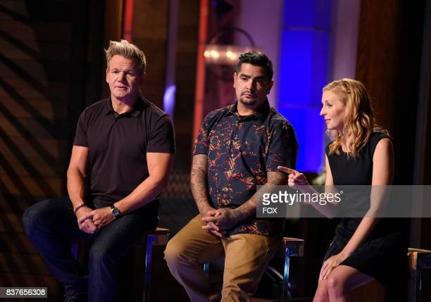 Judge / host Gordon Ramsay jusdge Aaron Sanchez and judge Christina Tosi in the Season Eight premiere of MASTERCHEF airing Wednesday May 31 on FOX