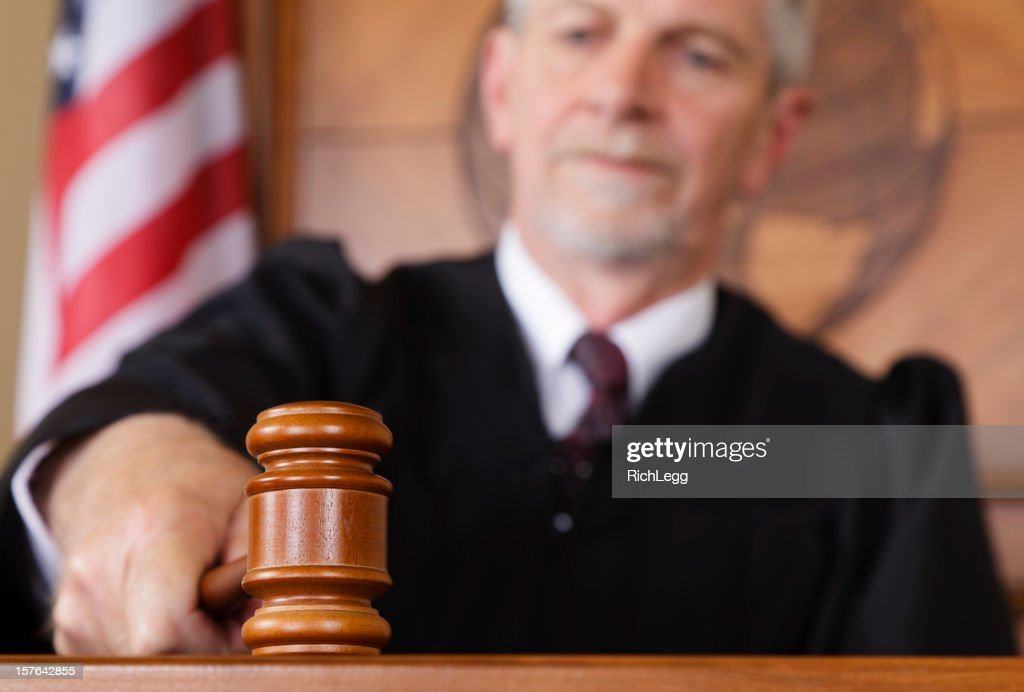 Judge in a Courtroom : Stock Photo