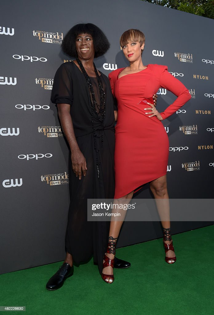 Judge J Alexander and ANTM host and Creator Tyra Banks attend the 'America's Next Top Model' Cycle 22 Premiere Party presented by OPPO and NYLON on...