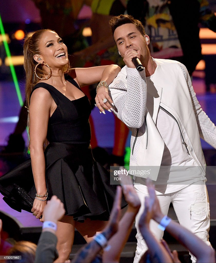 Judge Jennifer Lopez and singer Prince Royce perform onstage at FOX's 'American Idol XIV' Finale on May 13, 2015 at the Dolby Theater in Hollywood, California.