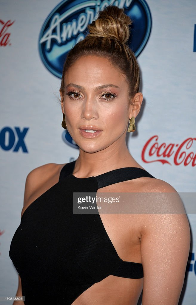 Judge <a gi-track='captionPersonalityLinkClicked' href=/galleries/search?phrase=Jennifer+Lopez&family=editorial&specificpeople=201784 ng-click='$event.stopPropagation()'>Jennifer Lopez</a> attends FOX's 'American Idol XIII' finalists party at Fig & Olive Melrose Place on February 20, 2014 in West Hollywood, California.