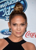 Judge Jennifer Lopez attends FOX's 'American Idol XIII' finalists party at Fig Olive Melrose Place on February 20 2014 in West Hollywood California