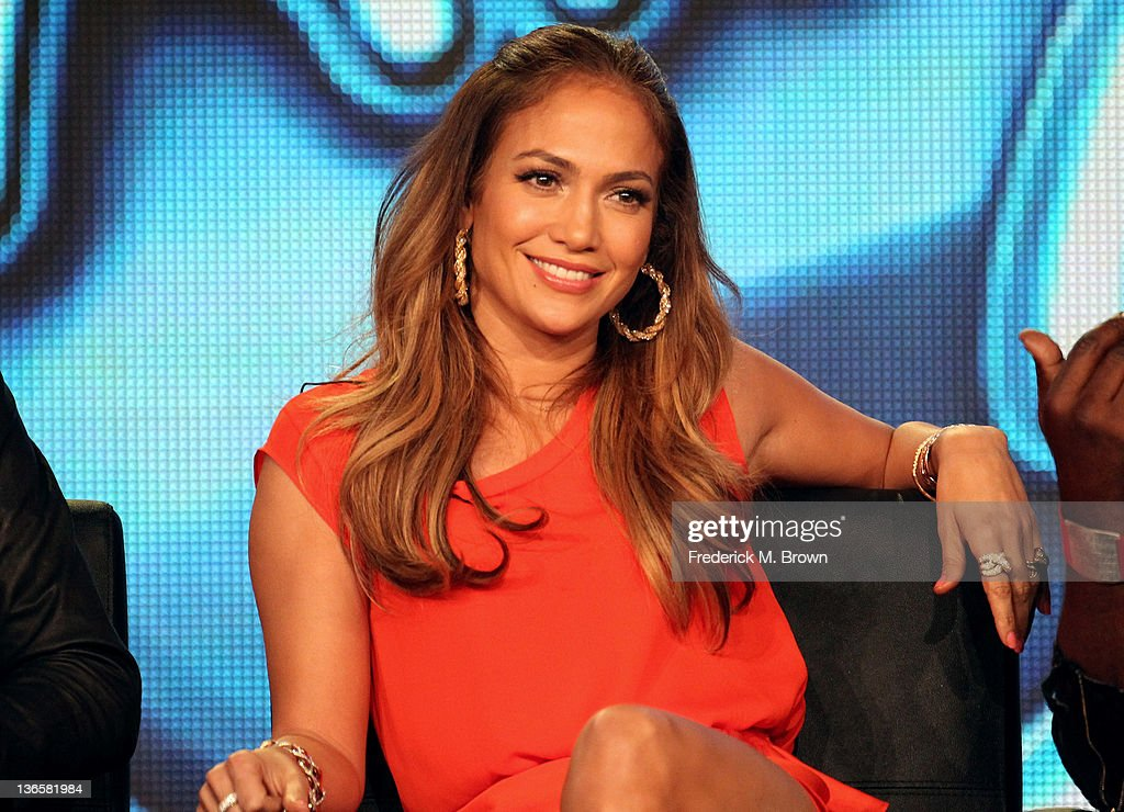 Judge <a gi-track='captionPersonalityLinkClicked' href=/galleries/search?phrase=Jennifer+Lopez&family=editorial&specificpeople=201784 ng-click='$event.stopPropagation()'>Jennifer Lopez</a> speaks onstage during the 'American Idol' panel during the FOX Broadcasting Company portion of the 2012 Winter TCA Tour at The Langham Huntington Hotel and Spa on January 8, 2012 in Pasadena, California.