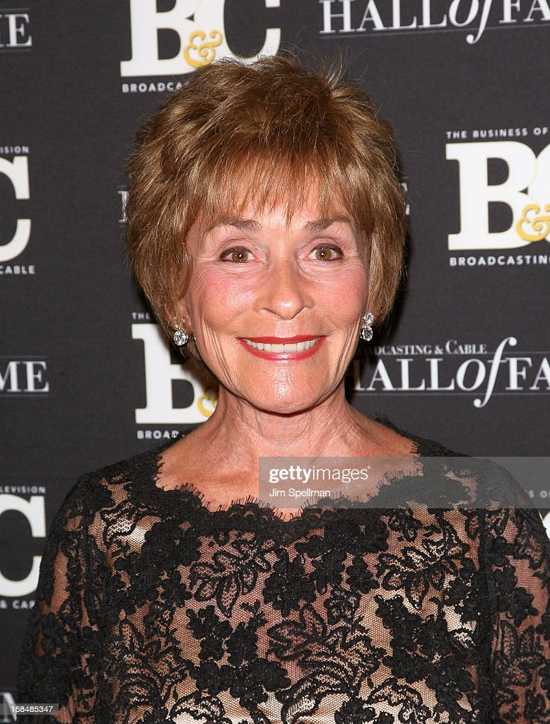 Judge Judith Sheindlin attends at 2012 Broadcasting & Cable Hall Of Fame Awards The Waldorf Astoria on December 17, 2012 in New York City.