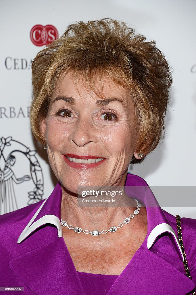 Judge <a gi-track='captionPersonalityLinkClicked' href=/galleries/search?phrase=Judy+Sheindlin&family=editorial&specificpeople=556203 ng-click='$event.stopPropagation()'>Judy Sheindlin</a> (aka Judge Judy) arrives at the 55th Annual Women's Guild Cedars-Sinai Anniversary Gala at the Beverly Wilshire Four Seasons Hotel on November 13, 2012 in Beverly Hills, California.