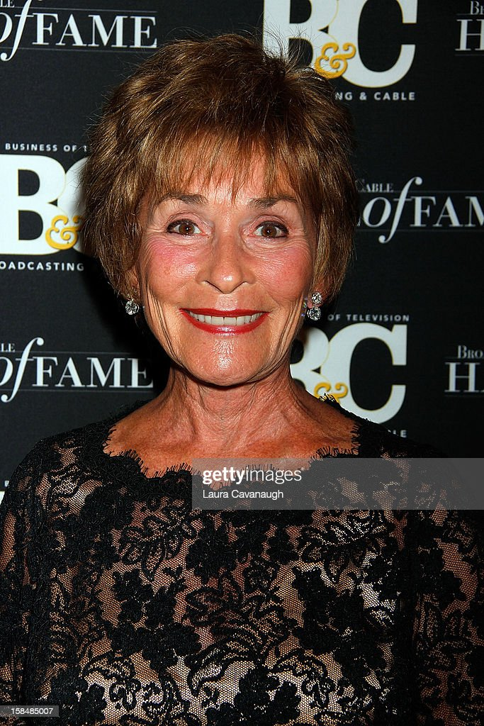 Judge Judy Sheindlin attends the 2012 Broadcasting & Cable Hall of Fame Awards at The Waldorf=Astoria on December 17, 2012 in New York City.