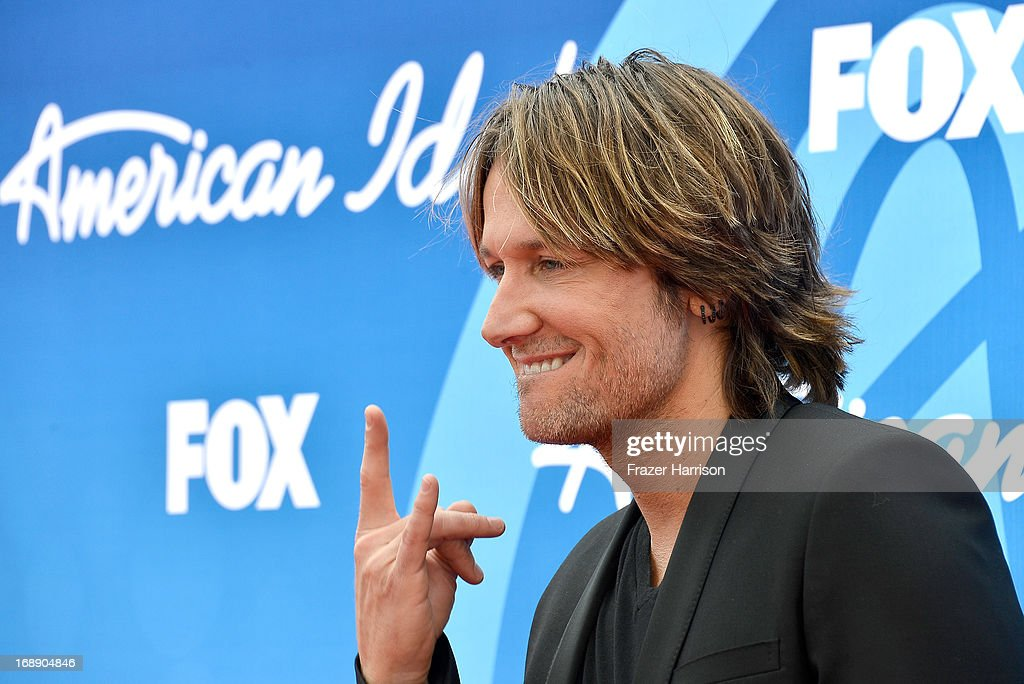 Judge <a gi-track='captionPersonalityLinkClicked' href=/galleries/search?phrase=Keith+Urban&family=editorial&specificpeople=202997 ng-click='$event.stopPropagation()'>Keith Urban</a> attends Fox's 'American Idol 2013' Finale - Results Show at Nokia Theatre L.A. Live on May 16, 2013 in Los Angeles, California.