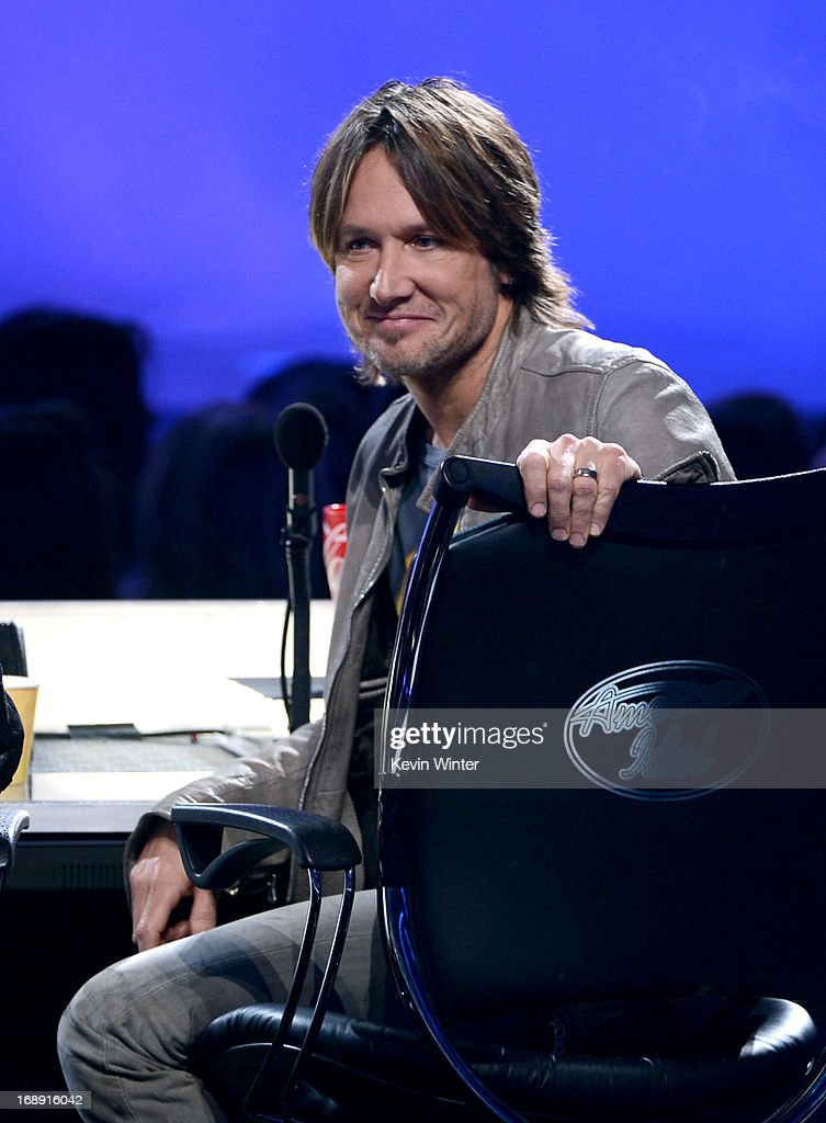 Judge <a gi-track='captionPersonalityLinkClicked' href=/galleries/search?phrase=Keith+Urban&family=editorial&specificpeople=202997 ng-click='$event.stopPropagation()'>Keith Urban</a> is seen onstage during Fox's 'American Idol 2013' Finale Results Show at Nokia Theatre L.A. Live on May 16, 2013 in Los Angeles, California.