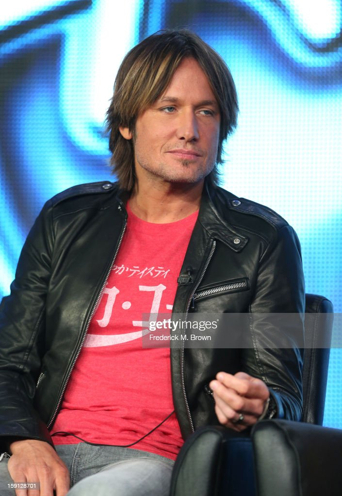 Judge <a gi-track='captionPersonalityLinkClicked' href=/galleries/search?phrase=Keith+Urban&family=editorial&specificpeople=202997 ng-click='$event.stopPropagation()'>Keith Urban</a> of 'American Idol' speaks onstage during the FOX portion of the 2013 Winter TCA Tour at Langham Hotel on January 8, 2013 in Pasadena, California.