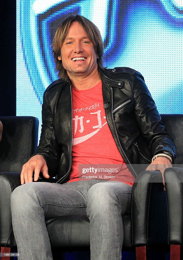 Judge Keith Urban of 'American Idol' speaks onstage during the FOX portion of the 2013 Winter TCA Tour at Langham Hotel on January 8, 2013 in Pasadena, California.