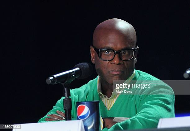 Judge LA Reid attends The X Factor Press Conference at CBS Television City on December 19 2011 in Los Angeles California