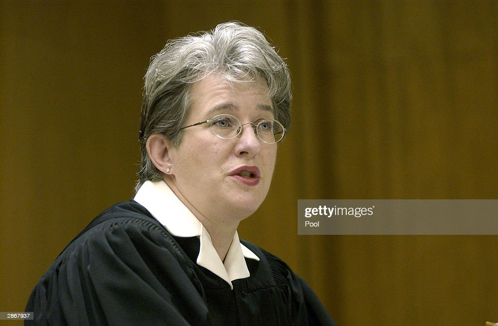 Judge Marie Sovey Silveira denies a petition by defense attorney Mark Geragos to dismiss double murder charges against Scott Peterson January 14 2004...